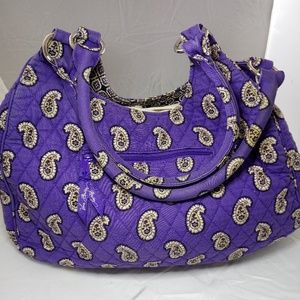 Vera Bradley Purple Paisley Large Hobo bag